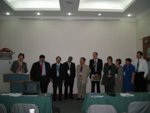 The AASP Board of Directors pose for a picture during the 1st AASP Conference in Friendship Hotel, Beijing, China in June 2004.