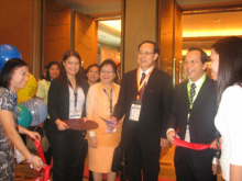 Opening of the Exhibit in the 3rd AASP Conference in World Renaissance Hotel in Makati City, Philippines in October 2007 with Dr Paul Heng and Dr Masataka Mochizuki.