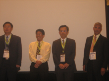 Some of the AASP Board of Directors: Dr Wu Chunfu (China), Dr Abas Hussin (Malaysia), Dr Ji Wang Chern (Taiwan) and Dr Iqbal Ramzan (Australia) in 3rd AASP Conference in Philippines in 2007.