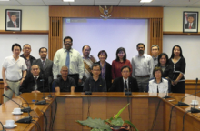The AASP Board of Directors posed for this picture after the BOD Meeting at the School of Pharmacy in Institut Teknologi Bandung, Indonesia in February 2011.